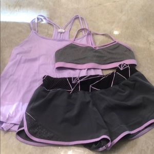 Purple workout outfit